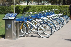 Rental bikes showing how we can each be a powerful force for sustainability