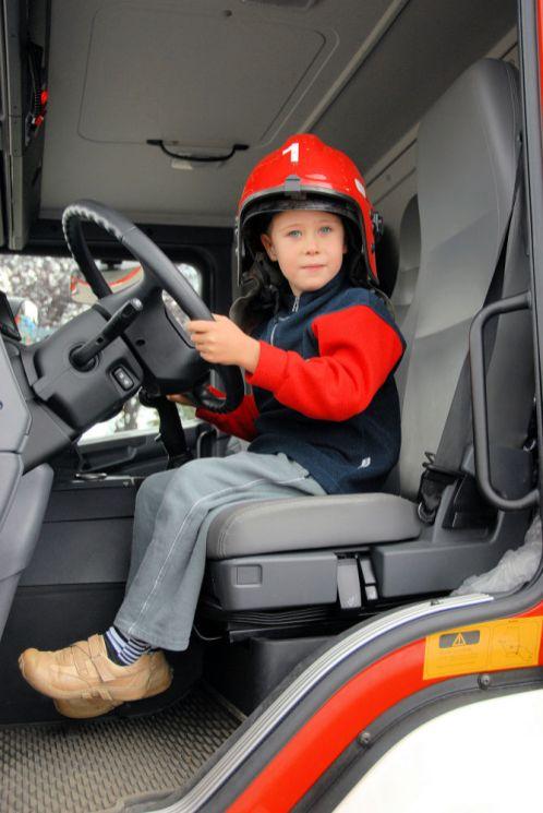 tt-boy in firetruck