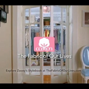 Zooey Deschanel's Fabric of Our Lives Commercial