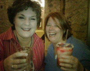 Marjory & I, laughing while having prickly pear margaritas at a Beltwide dinner in 2009