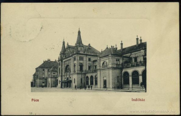 The Pécs Railroad Station