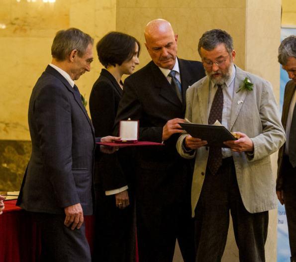 Mihály and Szabolcs Fekete-Nagy at the award ceremony