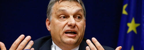 Viktor Orbán at one of his press conferences in Brussels / Photo: dpa