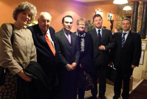 Gergely Prőhle, second from the right, with a delegation of the IHRA in Budapest / holocaustremembrance.com