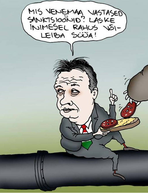 What kind of sanctions? Let the man eat his sandwich in piece Source: Posteemes /Photo: Urmas Nemvalts