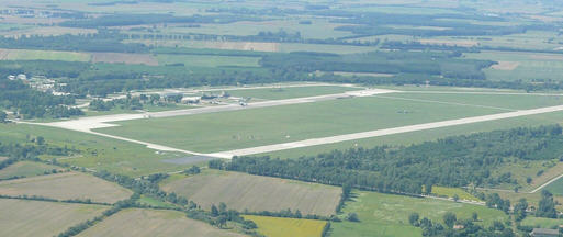 Aerial photo of the Pápa Airbase