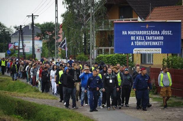 Anti-refugee demonstration in Debrecen / MTI / Photo solt Czeglédy