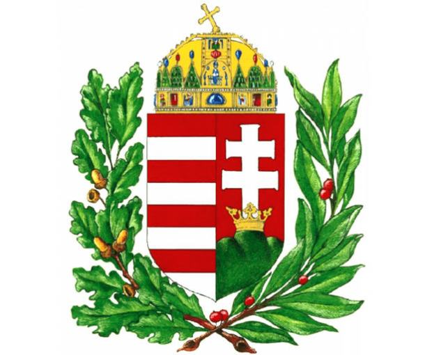 And this is Viktor Orbán's own coat-of-arms. His office is the only entitled to us it
