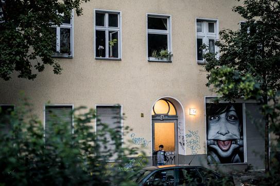 Refugee hostel in Berling