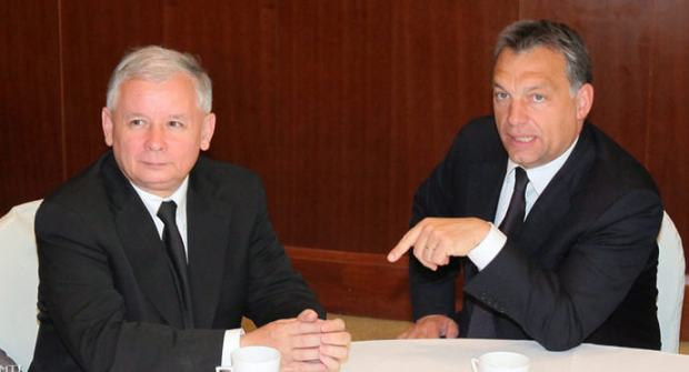 Jarosław Kaczynski and Viktor Orbán in 2010