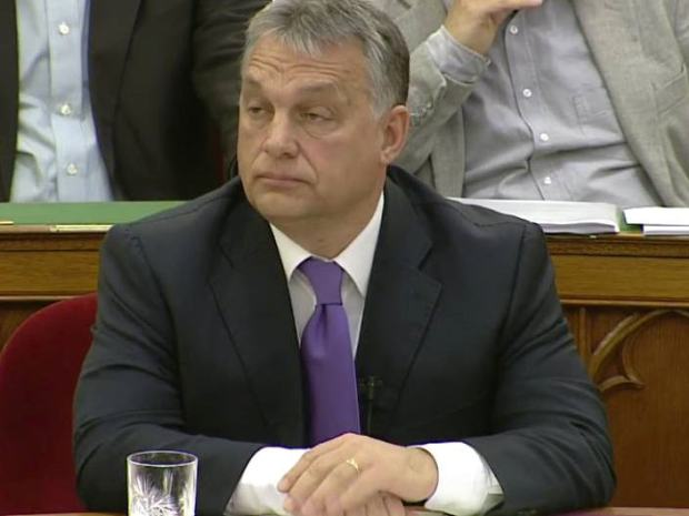 Viktor Orbán today in the Parliament