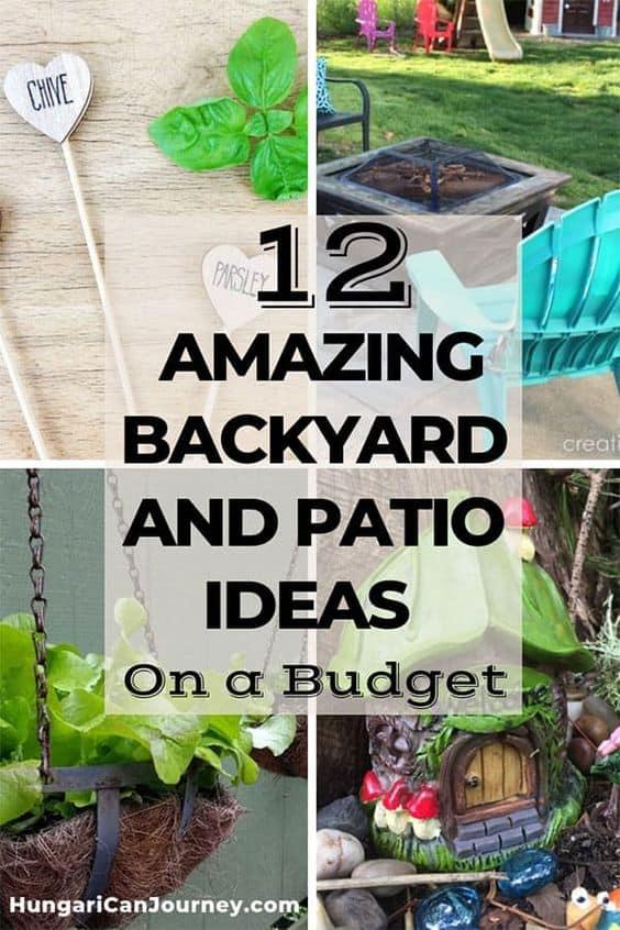 backyard and patio ideas on a budget