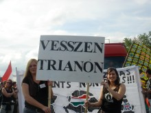 """Down with Trianon."" Protesting the 1920 Treaty of Trianon (9/3/2007)."