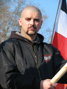 Hungarist at rally honoring the fascist breakout attempt during the 1945 Siege of Budapest (2/12/2007).