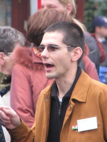 Kuruc.info website editor Előd Novák at Hungarian Guard initiation ceremony (10/21/2007).