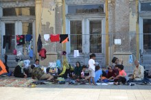 Afghan family camped out at Eastern Railway Station
