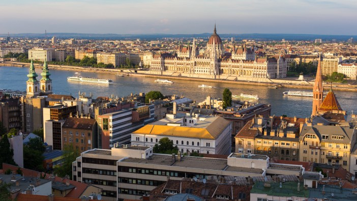 View from fishermens bastion budapest on Parliament