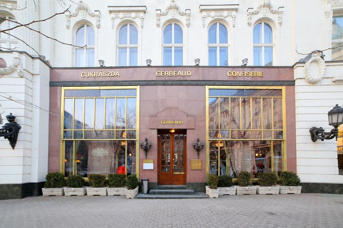 Gerbeaud confectionery in Budapest from the outside