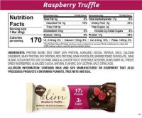 NuGo Slim Raspberry Truffle - Nutrition