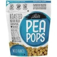 Three Farmers Pea Pops Wild Ranch - Roasted Green Pea Snacks - 28G