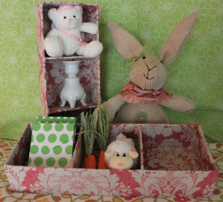 """13""""x5"""" Rosey Pink Mini Treasure Tray $15.50 Perfect storage for all those little treasures."""