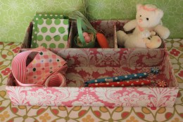 """9""""x13"""" Rosey Pink Treasure Tray $19.00 Sweet storage for all things tiny!"""
