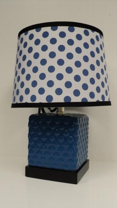 Blue Polka Lamp $59.50