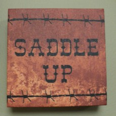 """6""""sqr. Saddle Up Picture $19.50"""