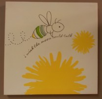 """12"""" sqr. Buzzy Bee Picture Daffodil $19.50 Click here to BUY"""