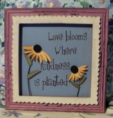 "10""x10"" ""Love Blooms"" $29.50"