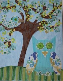 """""""Simply Sabrina"""" 14""""x11"""" Canvas Owl Custom Art $139.00 Multi-texture, handmade art Frame ready print also available $19.50"""