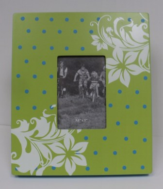 Lime Green Floral Frame $19.50 3x5