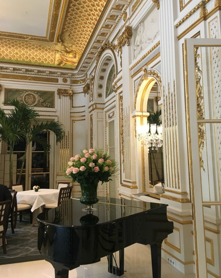 High Tea at the Peninsula Hotel, Paris
