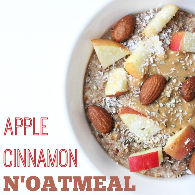 Apple Cinnamon Oatless Oatmeal - Paleo and Vegan