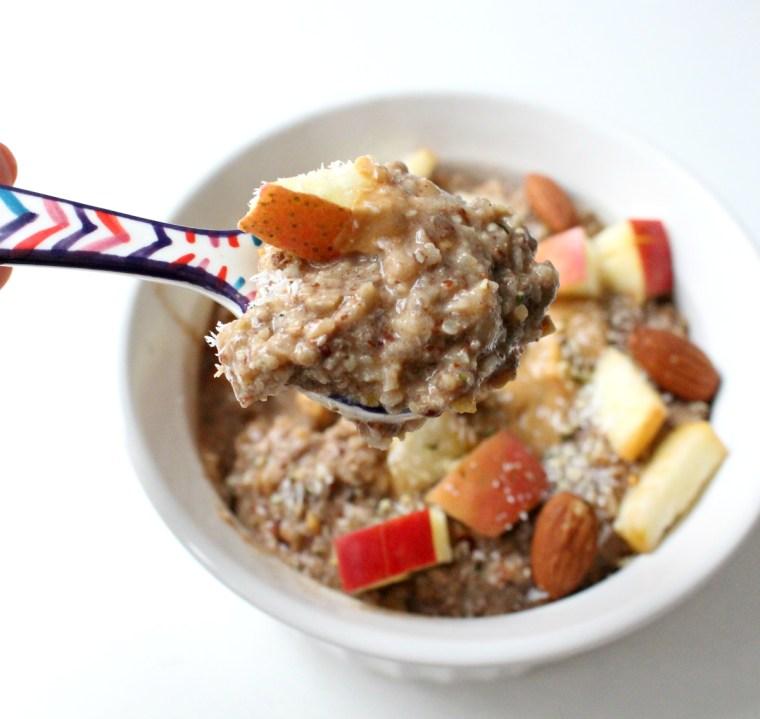 Apple Cinnamon N'oatmeal - oatmeal minus the oats! Paleo and Vegan