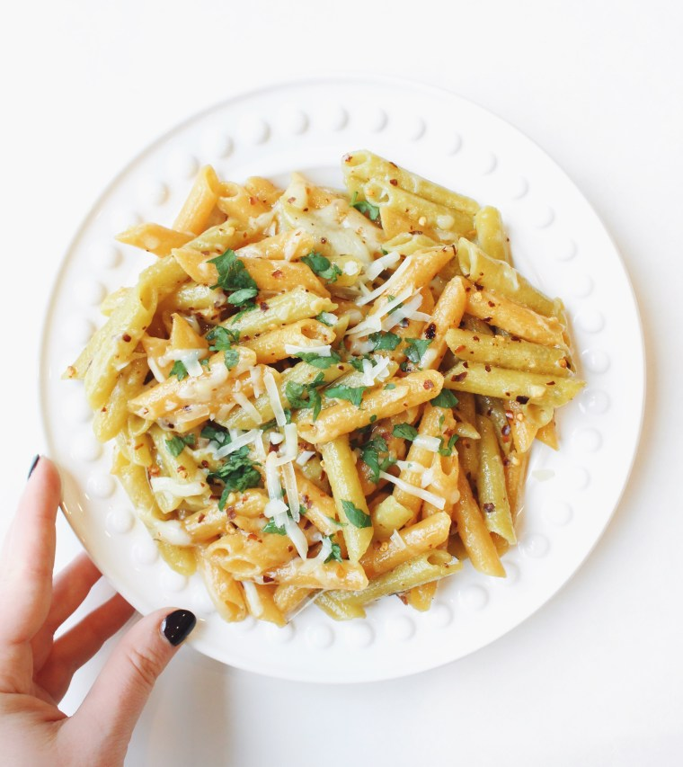 Parmesan Garlic Lentil Pasta