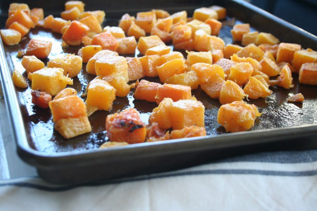 roasted butternut squash cubes
