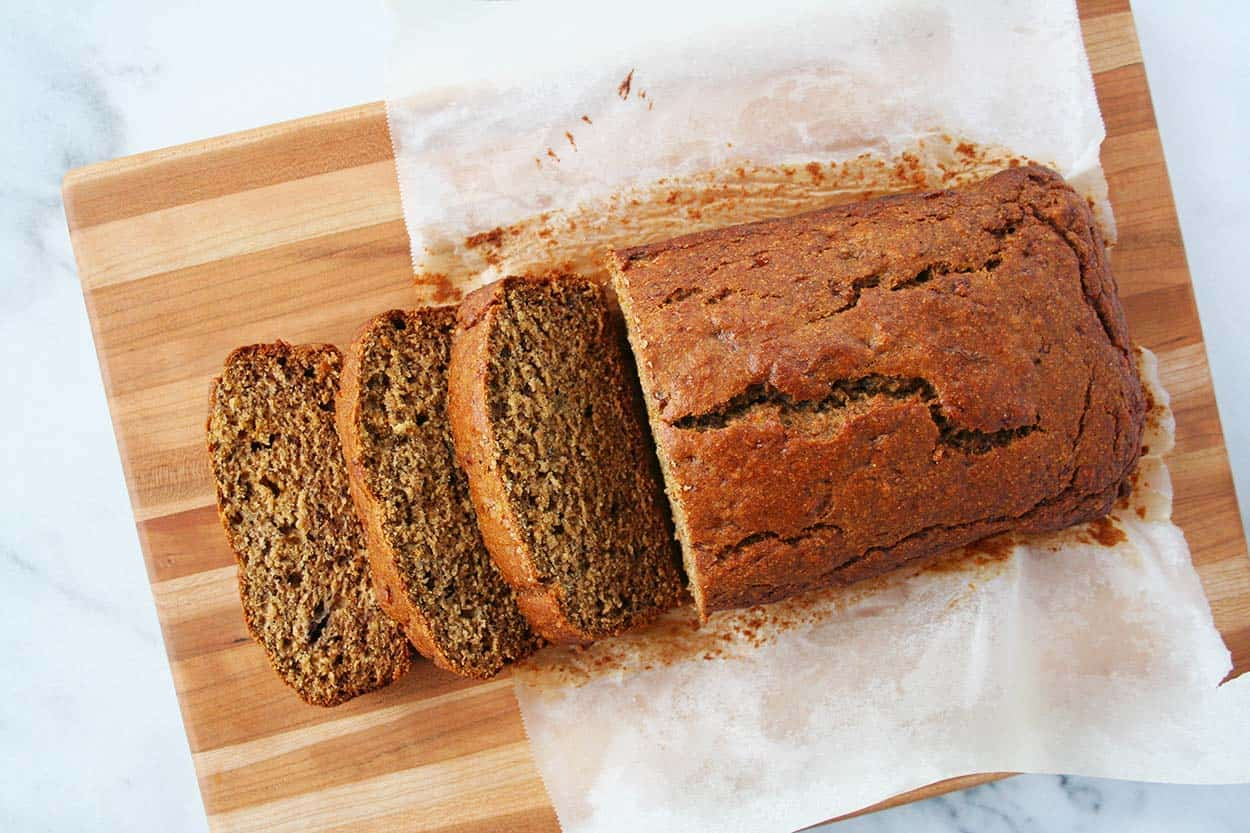 Whole Wheat Banana Bread with Olive Oil - Hungry by Nature