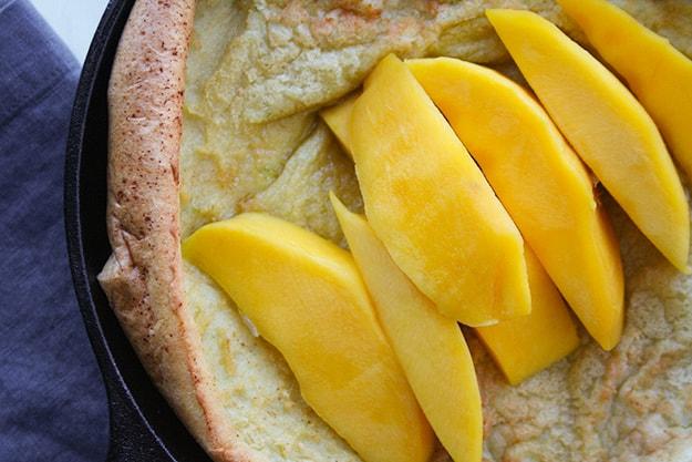 Mango-Lime Dutch Baby | hungrybynature.com