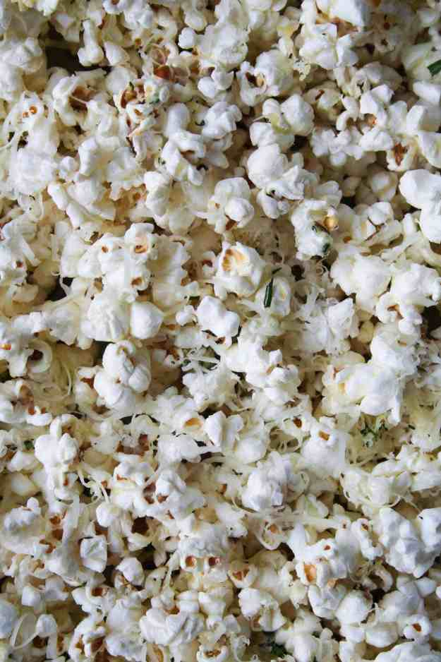 Rosemary Asiago Popcorn | Hungry by Nature