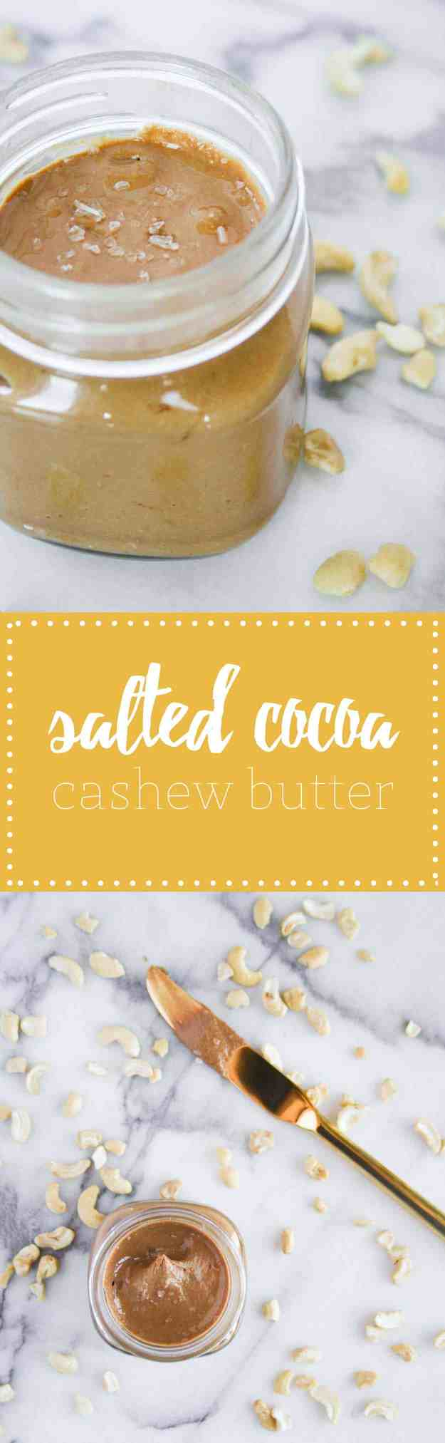Simple Salted Cocoa Cashew Butter | Hungry by Nature