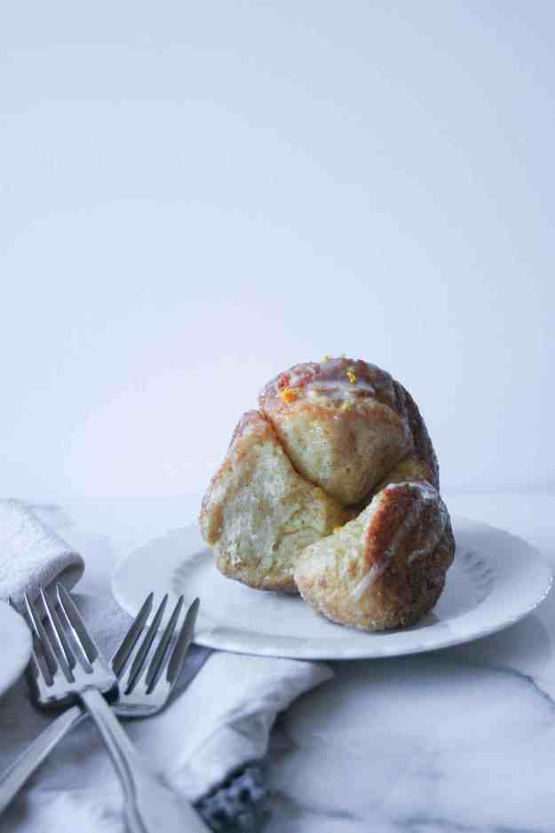My favorite breakfast treat with a twist - Orange-Glazed Cinnamon Monkey Bread. | Hungry by Nature