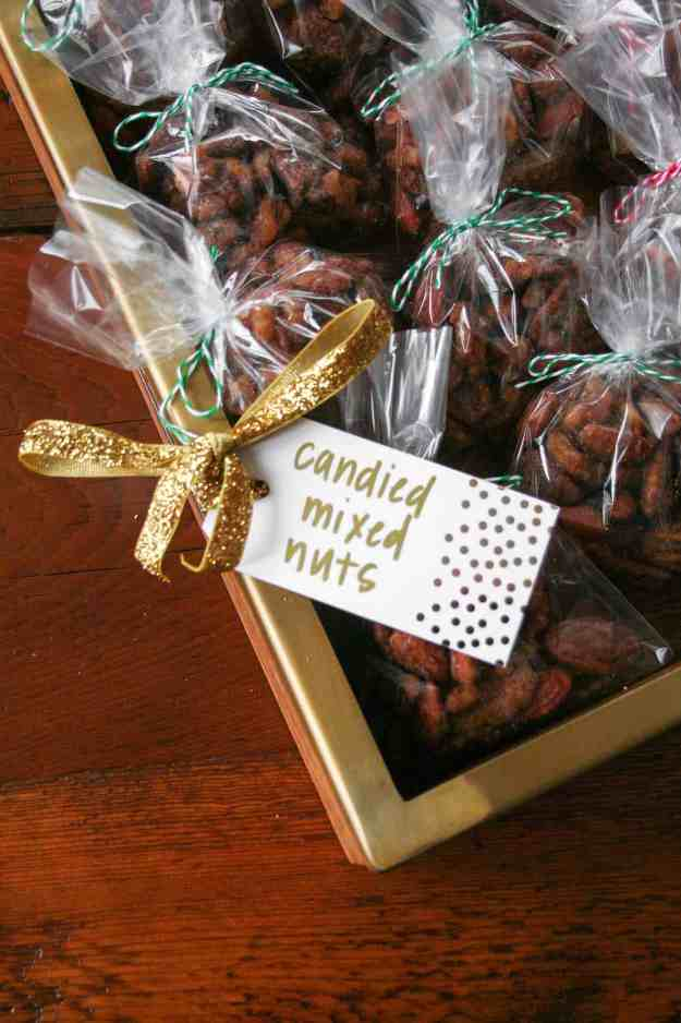 Candied mixed nuts are a simple and sweet way to spread holiday cheer - say Merry Christmas with candied nuts!   hungrybynature.com