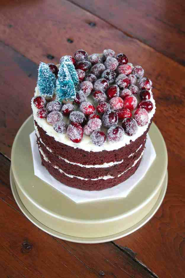 Now this is the perfect holiday dessert - GLUTEN FREE Winter Wonderland Mint Chocolate Cake!   hungrybynature.com