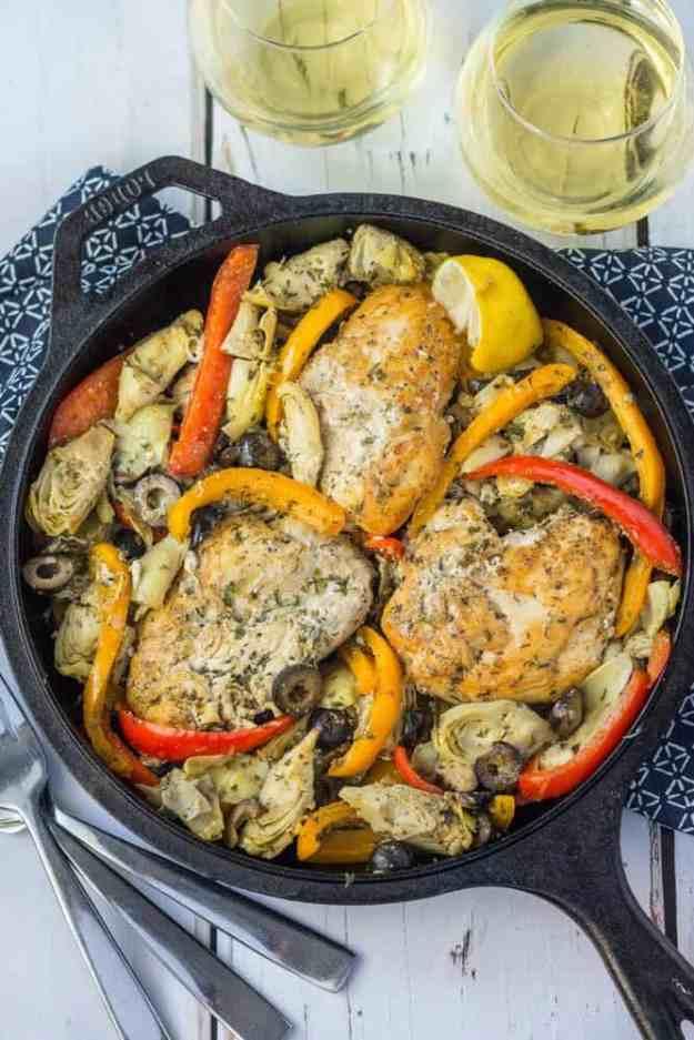 whole30-greek-chicken-skillet