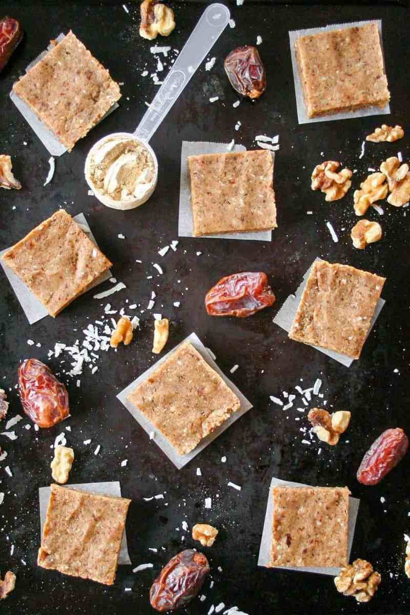 4-Ingredient Vanilla Walnut Protein Bars