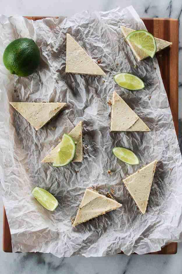 Raw Margarita Cheesecake Bars | vegan, no bake, dessert, tequila, recipe, mini, Cinco de Mayo, gluten free | hungrybynature.com