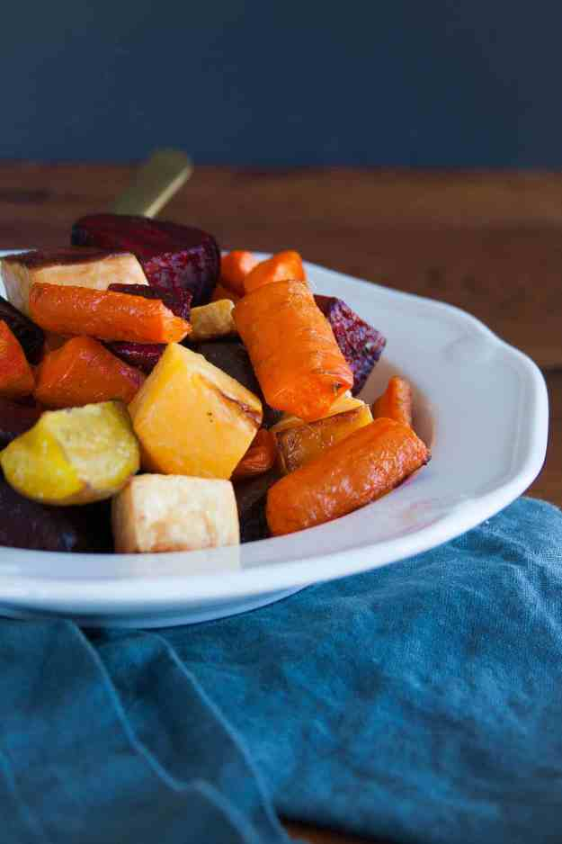 Rainbow Roasted Root Vegetables from The Autoimmune Paleo Cookbook | recipe, AIP, paleo, side dish, healthy, easy | hungrybynature.com