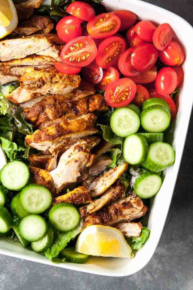 Chicken Shawarma Salad | #whole30 #paleo #easy #healthy #fresh | hungrybynature.com