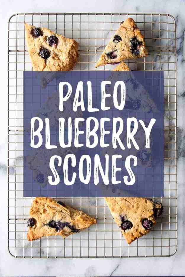 Paleo Blueberry Scones | #paleo #glutenfree #grainfree #healthy #mothersday #vegan #easy #brunch | hungrybynature.com